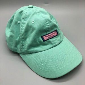 Vineyard vines green adjustable pink box logo hat